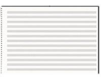 Papier à musique, 13 portées, format A3, à l'italienne