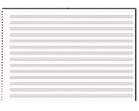 Papier à musique, 14 portées, format A3, à l'italienne