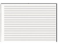 Papier à musique, 15 portées, format A3, à l'italienne