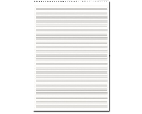Papier à musique, 24 portées, format A3