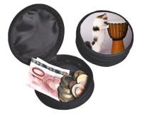 Porte-monnaie Chat jouant du djembé