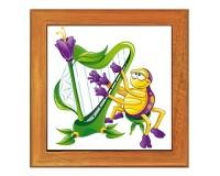 Dessous de plat : Araignée harpiste