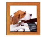 Dessous de plat : Chien pianiste