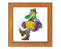 Dessous de plat : Crocodile accordéoniste