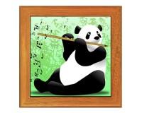 Dessous de plat : Panda flûtiste