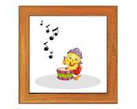 Dessous de plat : Poussin avec un tambour