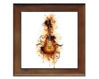Dessous de plat : Guitare avec taches de peinture