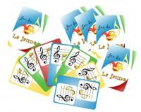 Jeu du La jaune, et autres jeux - Cartes standards