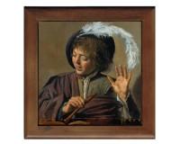 Dessous de plat : Garçon avec flûte par Frans Hals