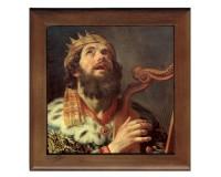 Dessous de plat : Le roi David jouant de la harpe par Gerard Van Honthorst