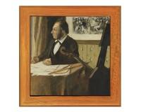 Dessous de plat : Le violoncelliste Pilet par Degas