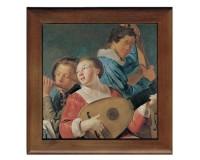 Dessous de plat : Les musiciens par Grebber