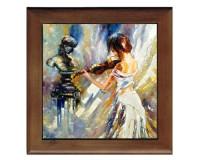 Dessous de plat : Peinture d'une violoniste