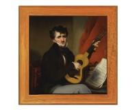 Dessous de plat : Portrait d'un joueur de guitare par Chinnery
