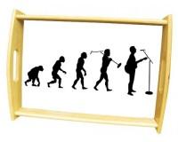 Grand plateau repas en bois : Evolution du chanteur