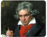 Tapis de souris 23 cm x 19 cm : Beethoven