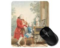 Tapis de souris 23 cm x 19 cm : Mozart père et ses deux enfants