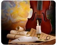 Tapis de souris 23 cm x 19 cm : Violon, bougie, partition