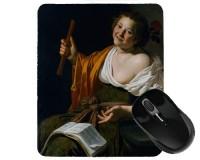 Tapis de souris 23 cm x 19 cm : Fille avec une flûte par Bijlert