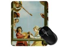 Tapis de souris 23 cm x 19 cm : Groupe musical sur un balcon par Honthorst