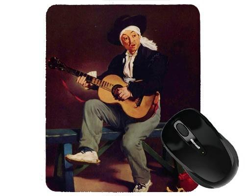 Tapis de souris 23 cm x 19 cm : Le joueur de guitare par Manet