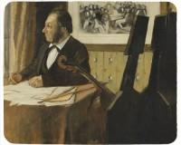 Tapis de souris 23 cm x 19 cm : Le violoncelliste Pilet par Degas