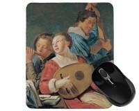 Tapis de souris 23 cm x 19 cm : Les musiciens par Grebber