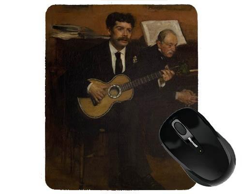 Tapis de souris 23 cm x 19 cm : Lorenzo Pagans et Auguste de Gas par Degas