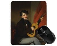 Tapis de souris 23 cm x 19 cm : Portrait d'un joueur de guitare par Chinnery