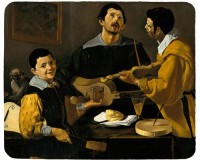 Tapis de souris 23 cm x 19 cm : Tableau de Vélasquez, 3 musiciens