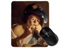 Tapis de souris 23 cm x 19 cm : Jeune Garçon jouant de la guimbarde par Baburen