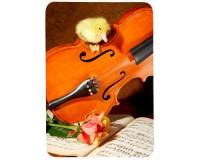 Tapis de souris 27 cm x 20 cm : Caneton sur un violon