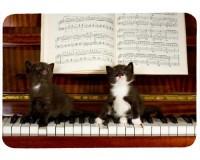 Tapis de souris 27 cm x 20 cm : Deux chatons sur un piano