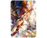 Tapis de souris 27 cm x 20 cm : Peinture d'une violoncelliste