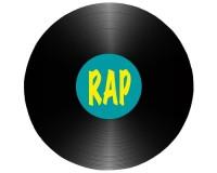Tapis de souris rond : Disque rap