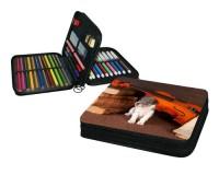 Trousse 21 cm x 16 cm : Chiot devant un violon et des partitions
