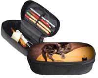 Trousse 23 cm x 9 cm : Chaton sur une guitare