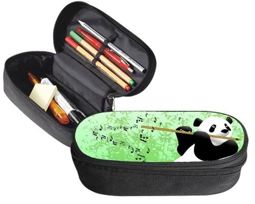 Trousse 23 cm x 9 cm : Panda flûtiste