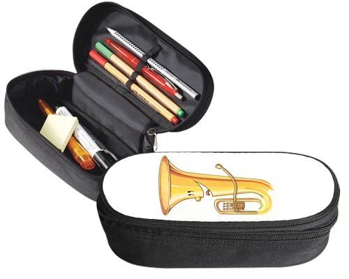 Trousse 23 cm x 9 cm : Dessin de tuba