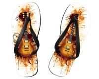 Tongs Guitare avec taches de peinture