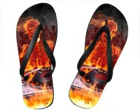 Tongs Squelette DJ en feu