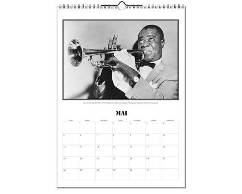 Calendrier année 2019 - Photos de musiciens de jazz
