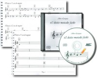 60 Dictées musicales faciles (papier, solutions, CD MP3)