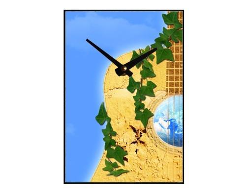 Horloge Guitare, ciel, terre