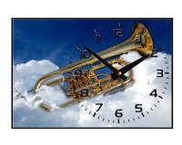 Horloge Trompette dans les nuages