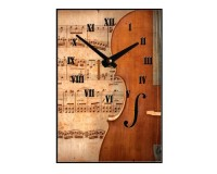 Horloge Violon devant vieille partition