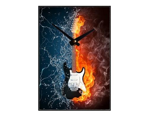 Horloge Guitare dans l'eau et le feu