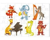 Puzzle Animaux musiciens
