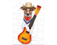 Puzzle Chien guitariste