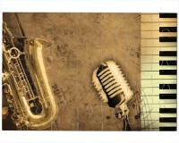Puzzle Saxophone, micro, clavier